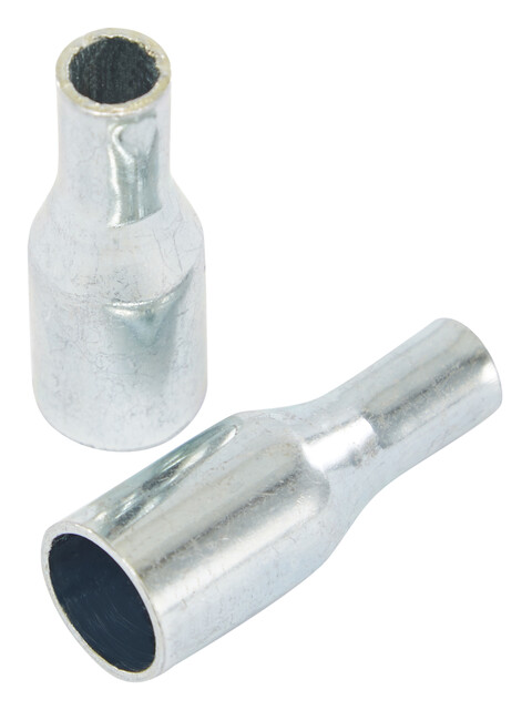 CAMPZ Eindstuk glasvezelstok Tentaccessoires hardware 9mm 2-delige set zilver